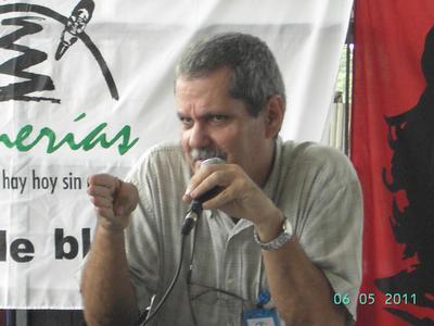 Enrique Ubieta en las Romerías de Mayo de 2011. Foto: Luis Ernesto Ruiz Martínez.