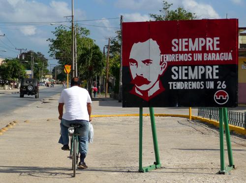Cartel de José Martí, autor intelectual del asalto al Moncada (Foto: Paco Azanza Telletxiki, 2009)
