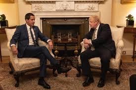 Resultado de imagen de imagenes de guaido con presidente de reino unido